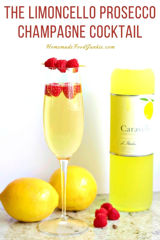 The limoncello prosecco champagne cocktail-pin image