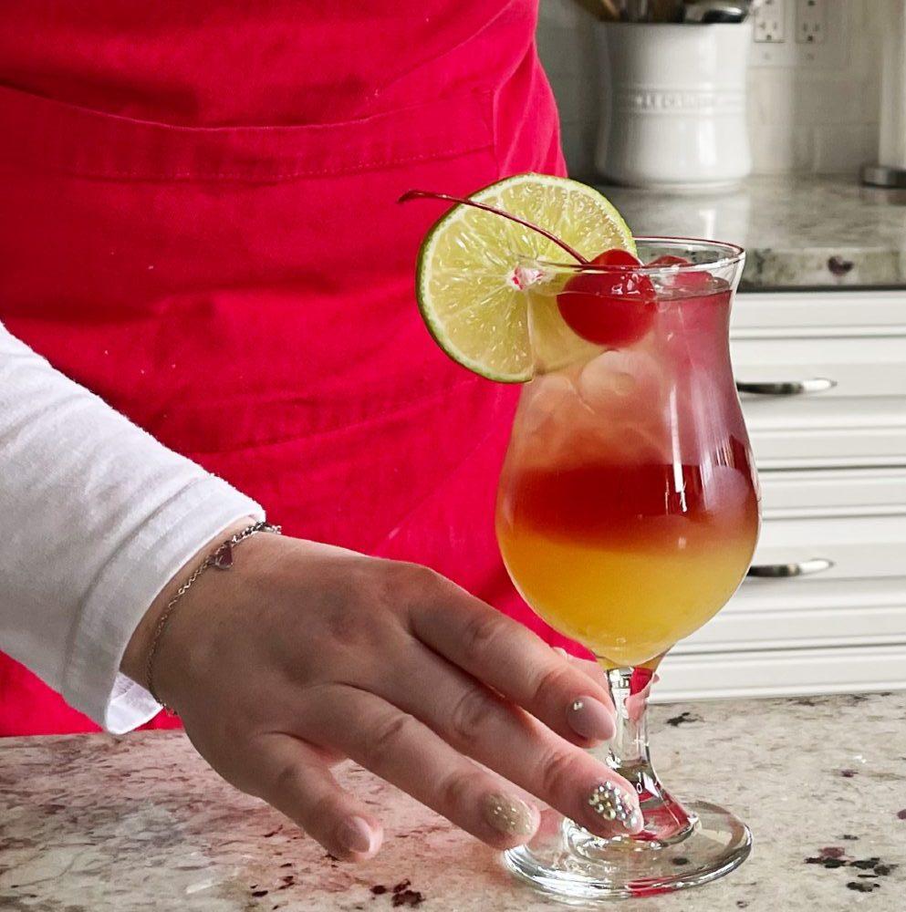 garnished Bay Breeze drink