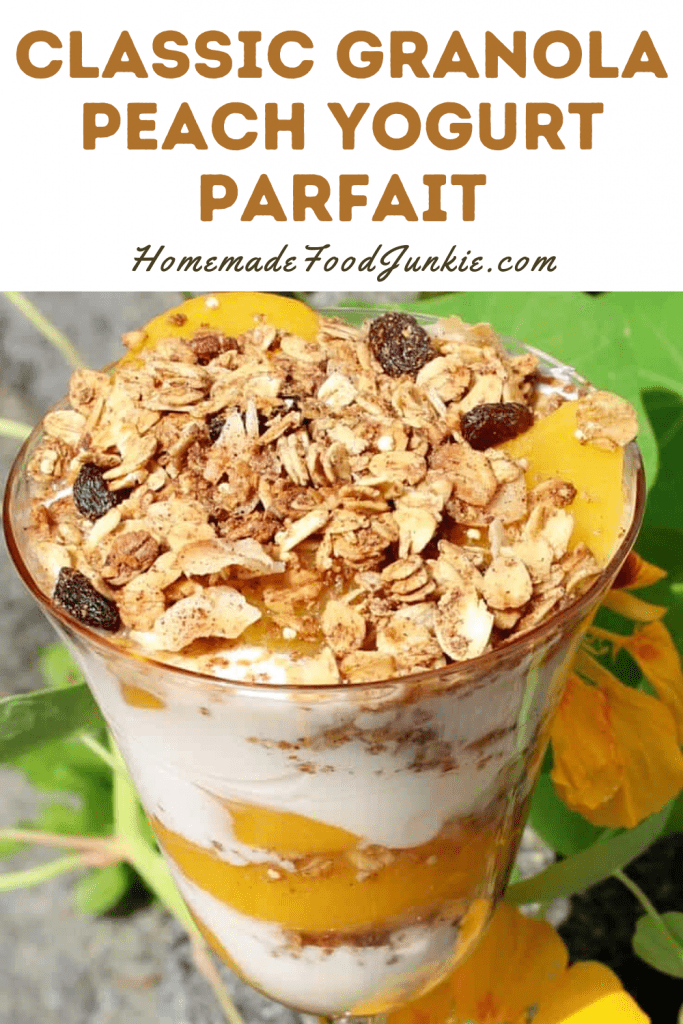 Classic Granola Peach Yogurt Parfait-Pin Image