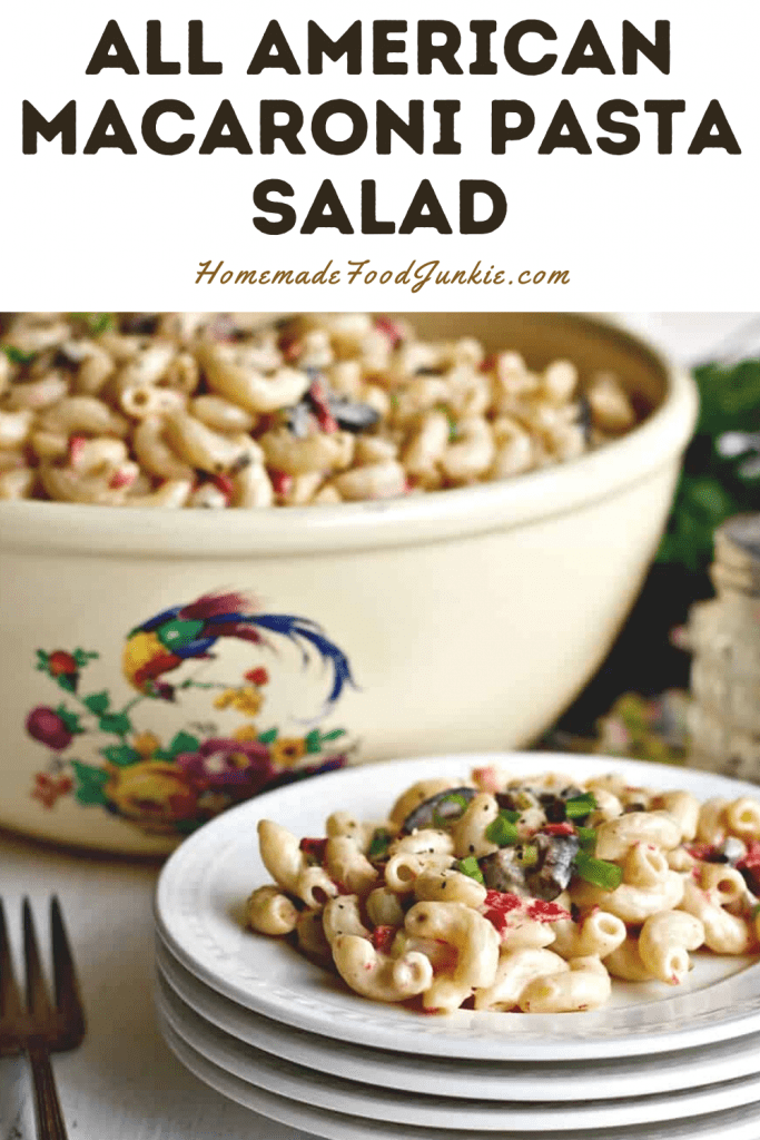 All American Macaroni Pasta Salad-Pin Image