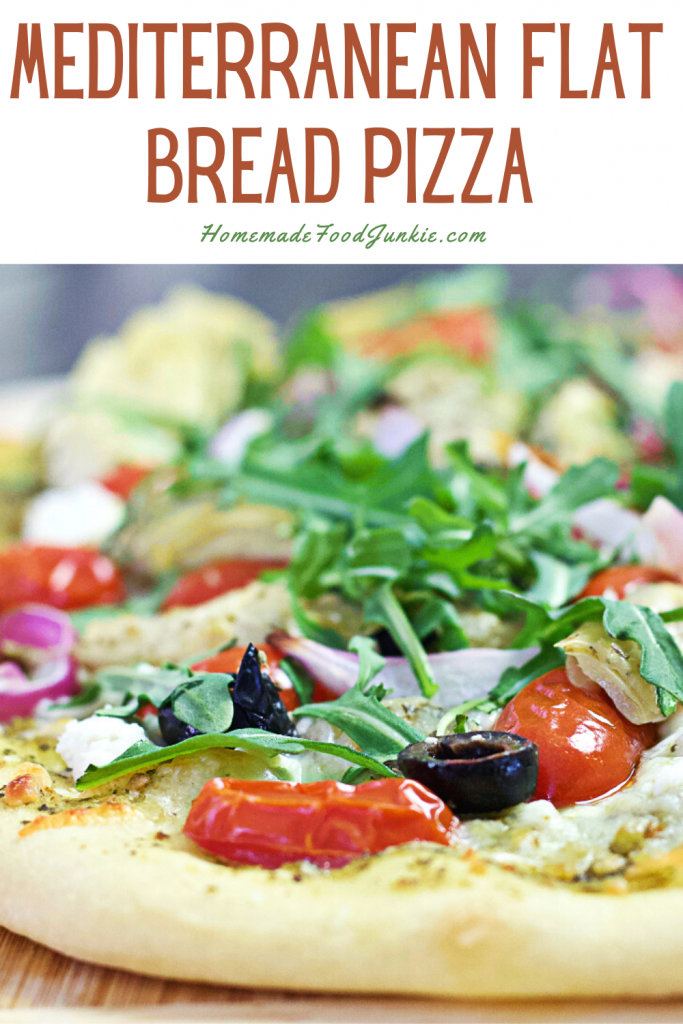 Mediterranean flat bread pizza-pin image