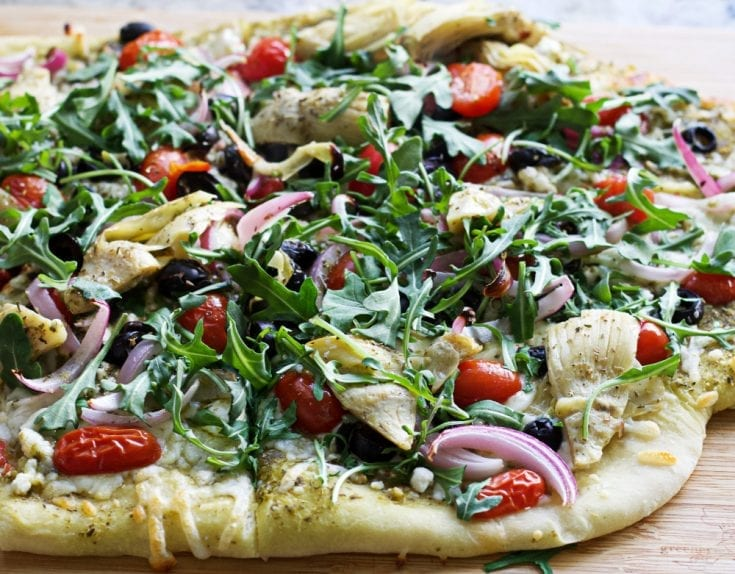 Mediterranean Flatbread Pizza 4