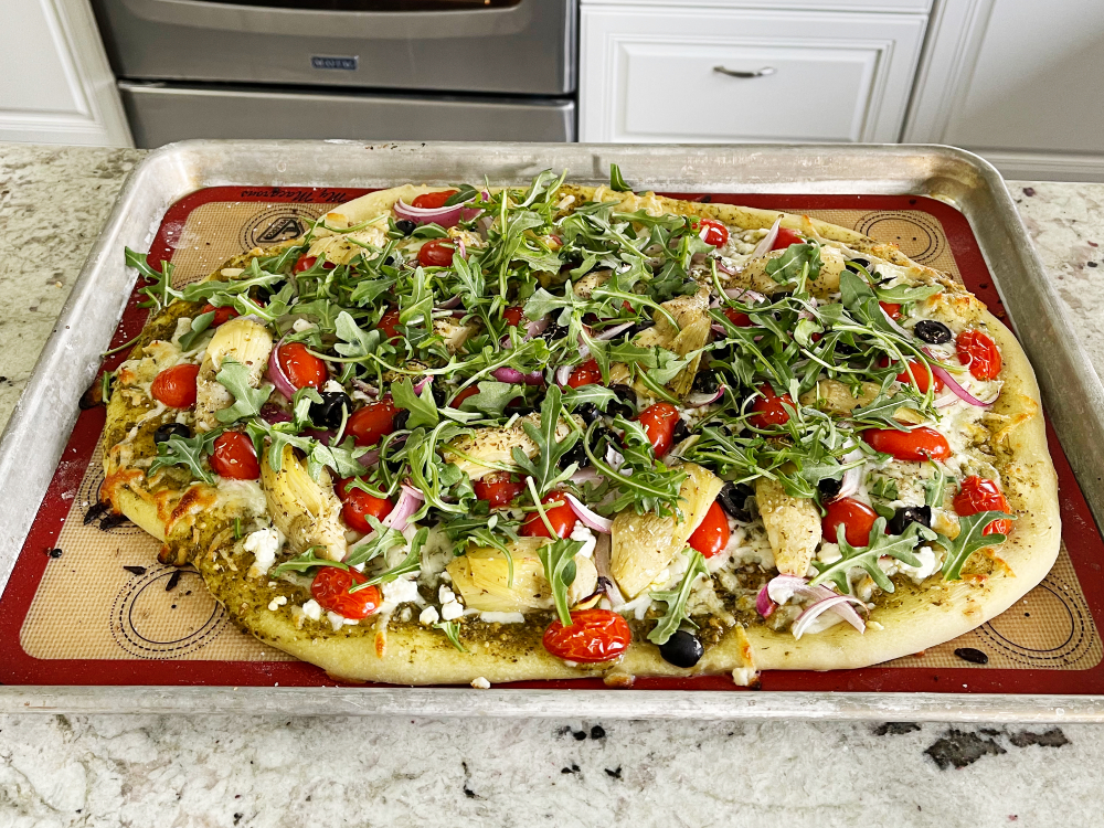 baked Mediterranean Flatbread