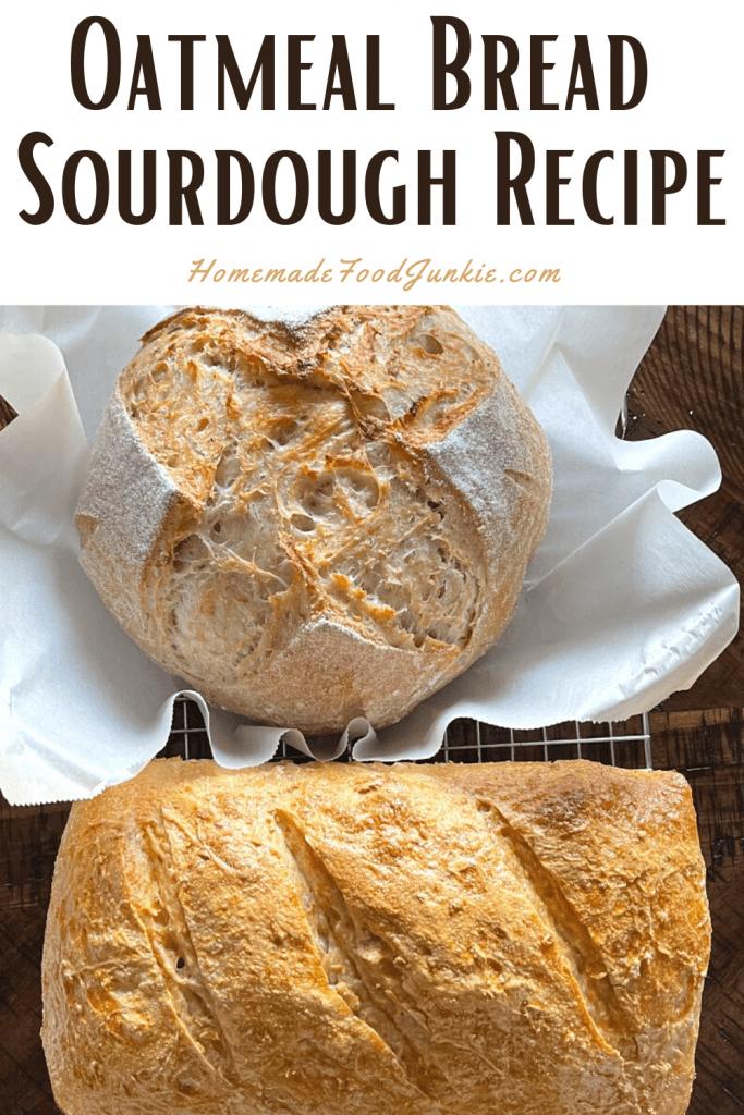 Oatmeal sourdough recipe-pin image