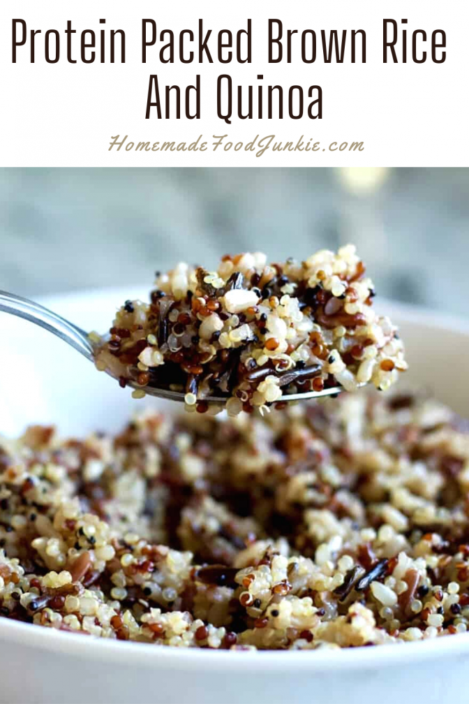 Protein Packed Brown Rice And Quinoa-Pin Image