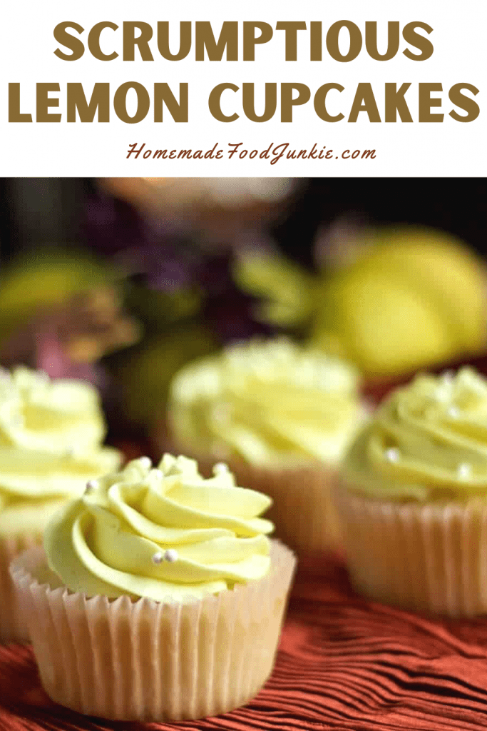 Scrumptious Lemon Cupcakes-Pin Image
