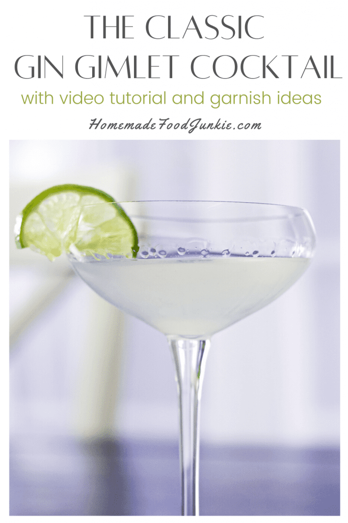 The classic gin gimlet cocktail-pin image