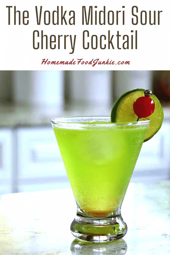 The vodka midori sour cherry cocktail-pin image