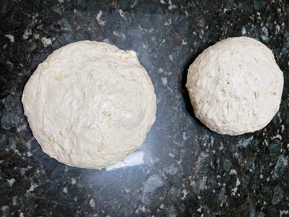 Form dough and bench rest 45 minutes
