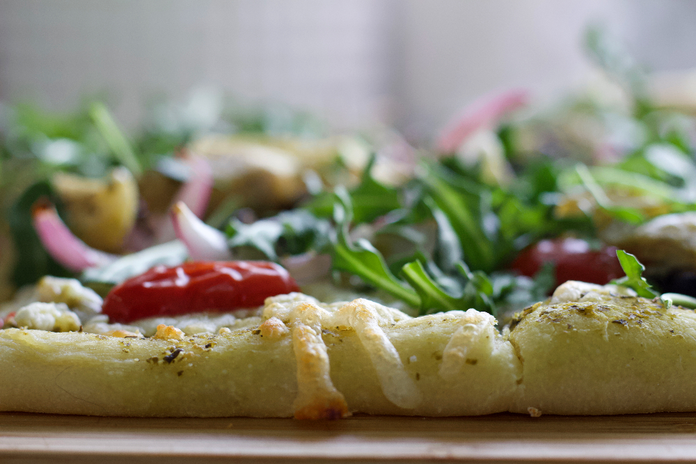 Flatbread With Mediterranean Toppings