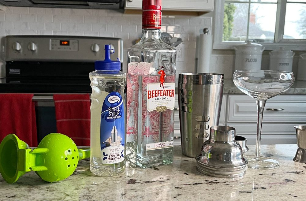 ingredients for Gimlet Cocktail