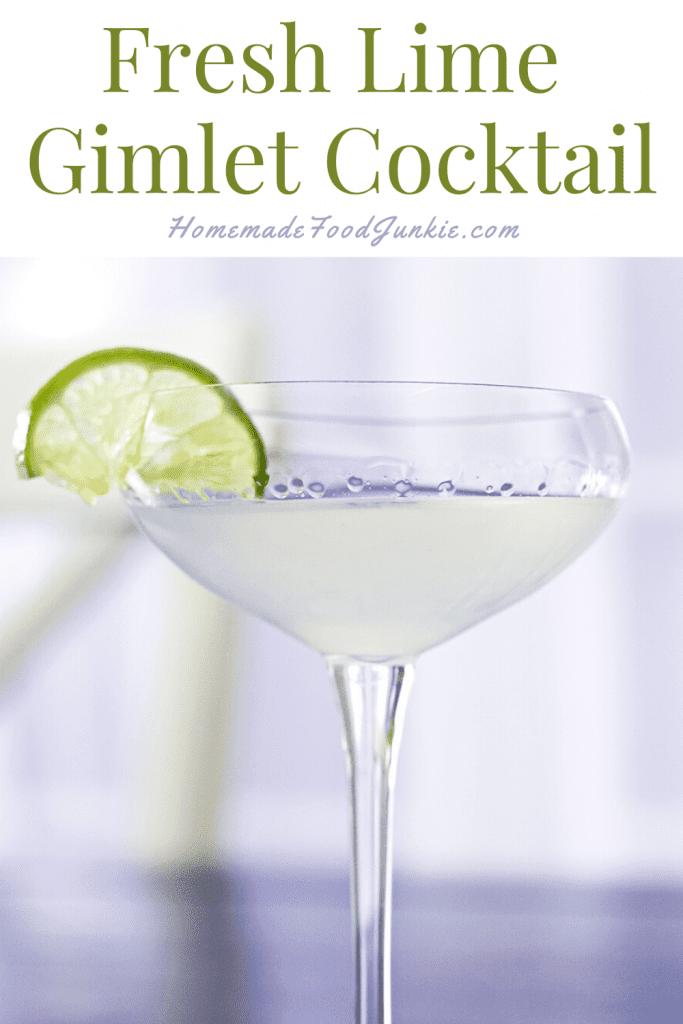 Fresh lime gimlet cocktail-pin image