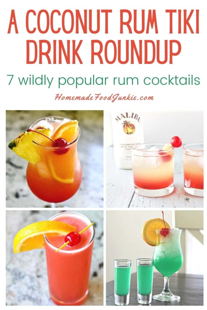 A Coconut Rum Tiki Drink Roundup-Pin Image