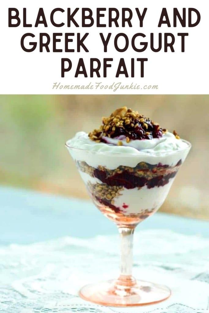 Blackberry and greek yogurt parfait-pin image
