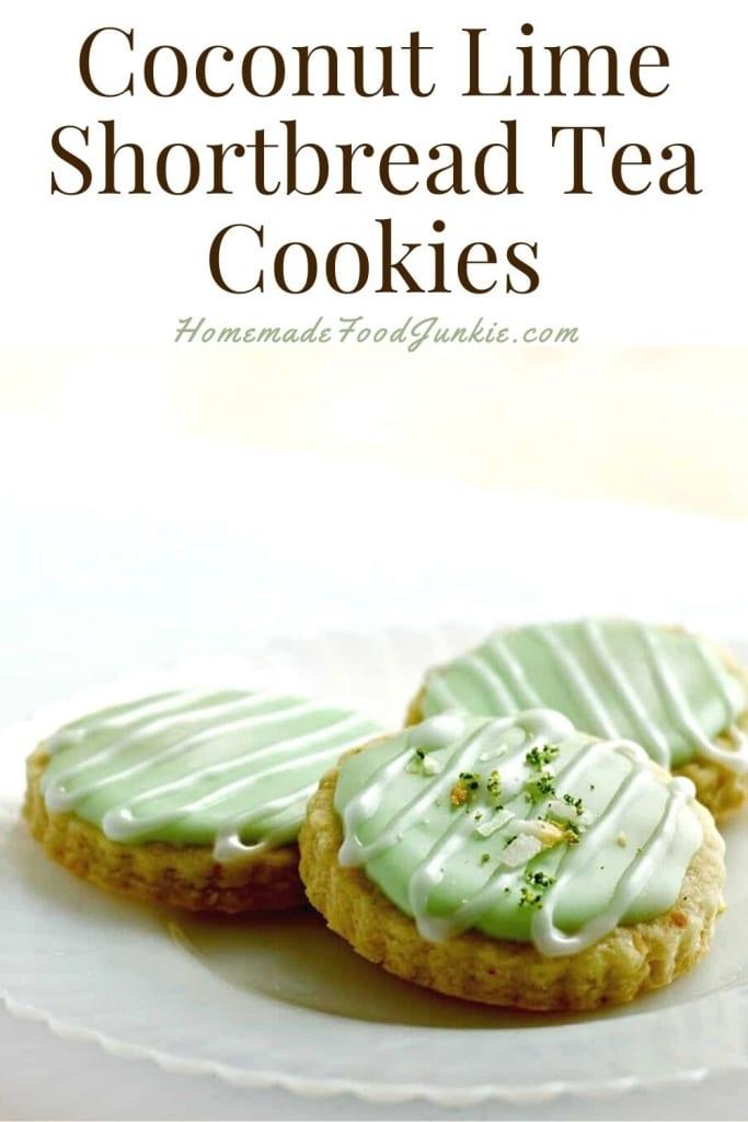 Coconut Lime Shortbread Tea Cookies-Pin Image