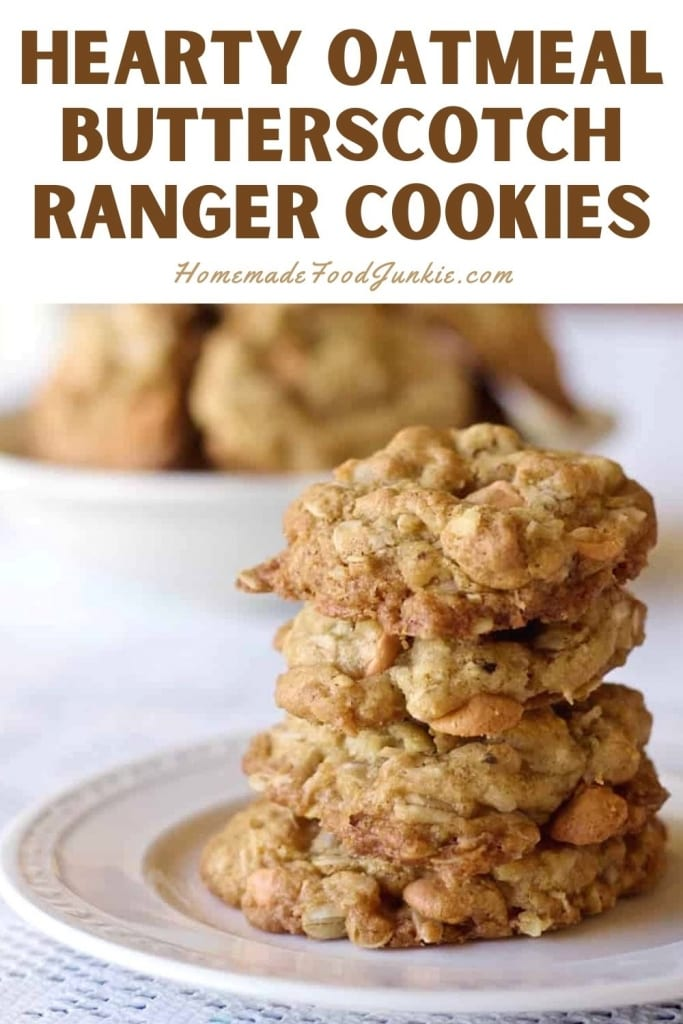Hearty Oatmeal Butterscotch Ranger Cookies-Pin Image
