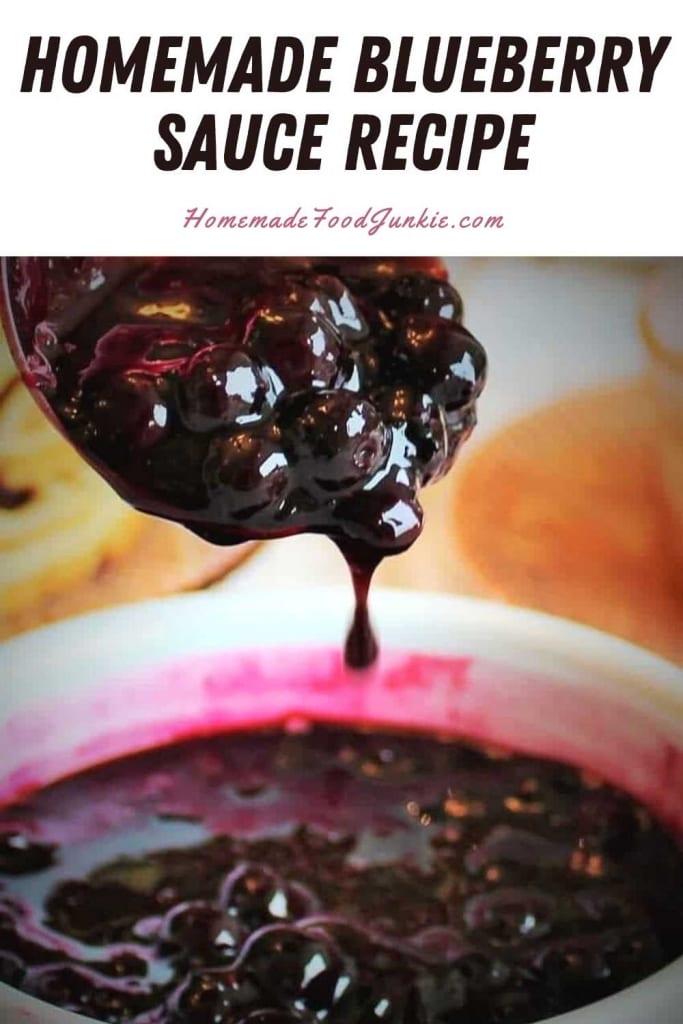 Homemade Blueberry Sauce Recipe-Pin Image
