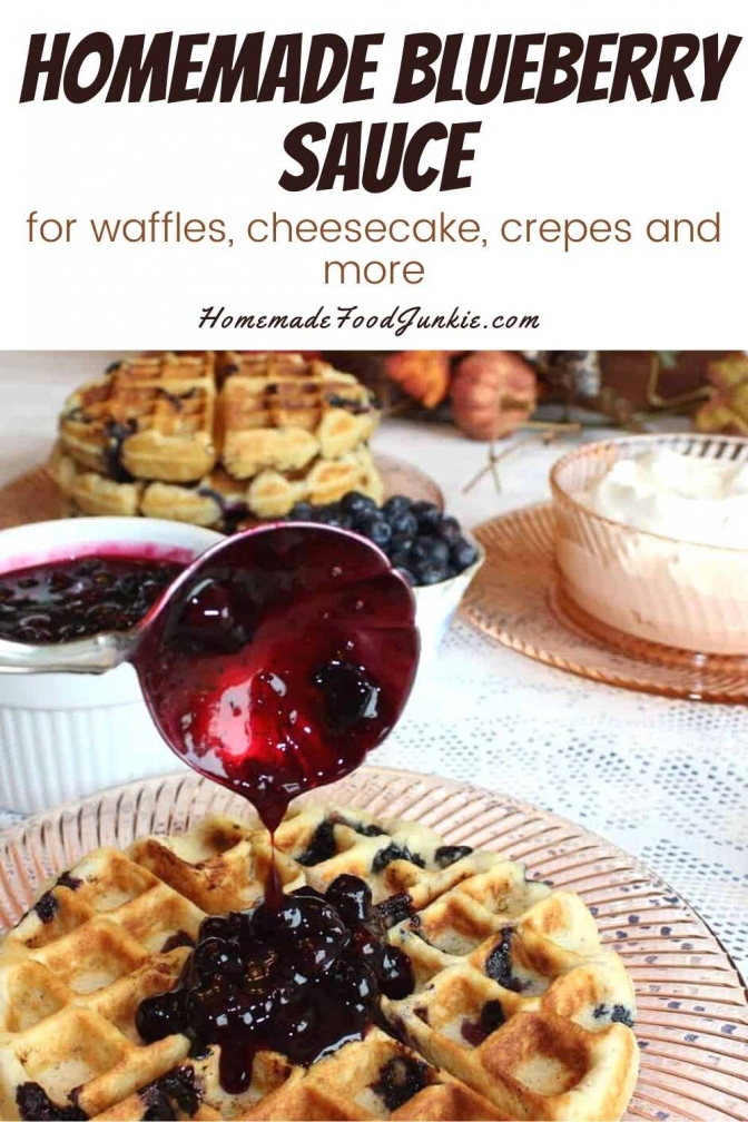 Homemade Blueberry Sauce-Pin Image