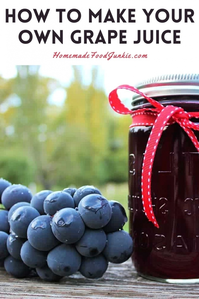 How to make your own grape juice-pin image