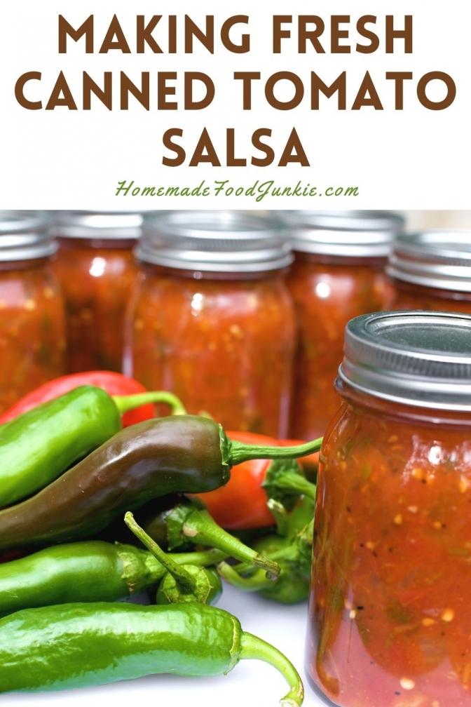 Making Fresh Canned Tomato Salsa-Pin Image