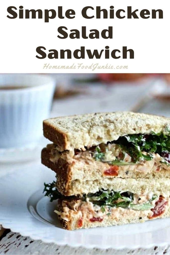 Simple Chicken Salad Sandwich-Pin Image