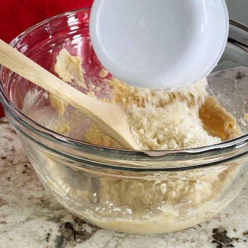 Pouring Almond Flour