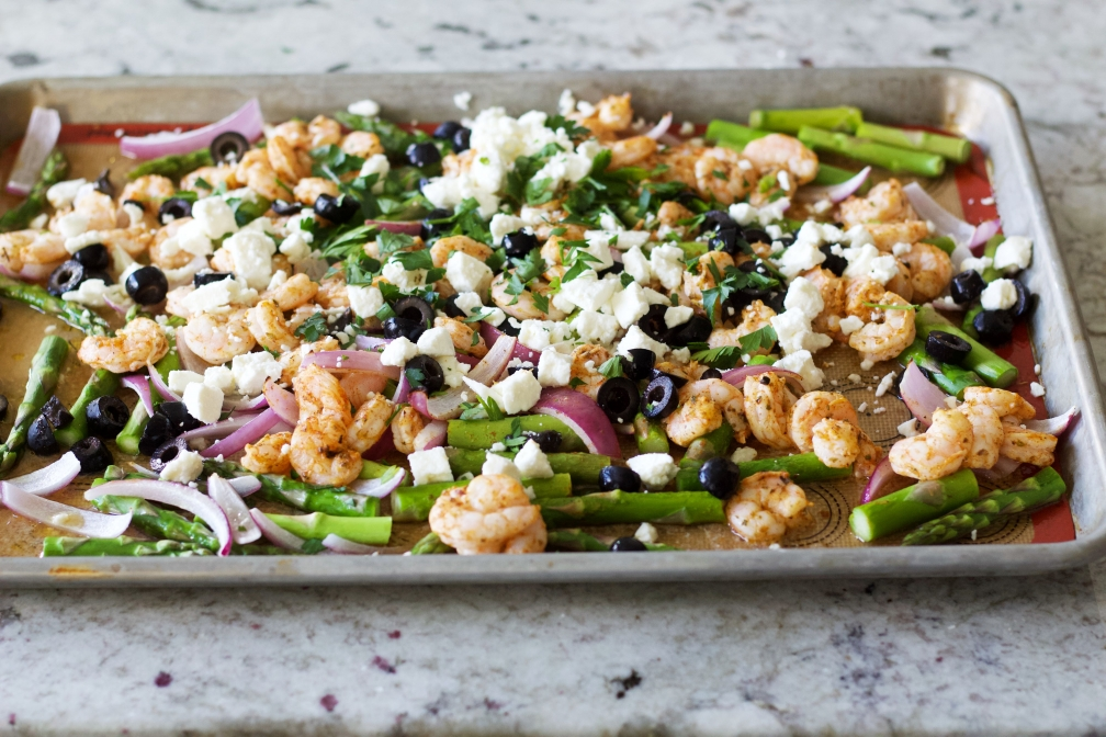 sheet pan shrimp dinner