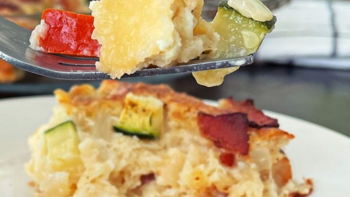 bisquick zucchini pie-forkful