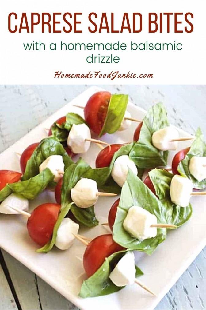 Caprese salad bites-pin image