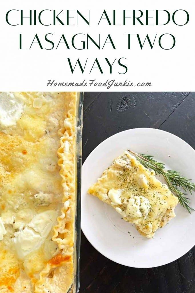 Chicken Alfredo Lasagna Two Ways-Pin Image