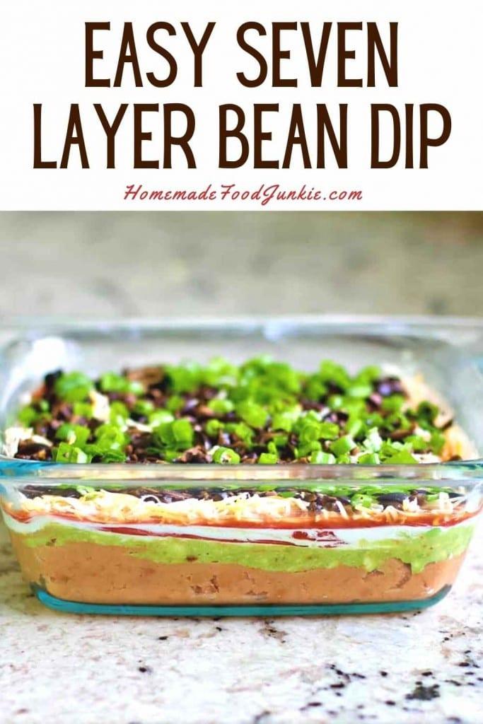 Easy Seven Layer Bean Dip-Pin Image