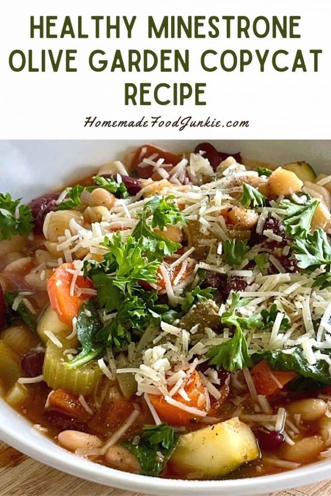 Healthy minestrone olive garden copycat recipe-pin image