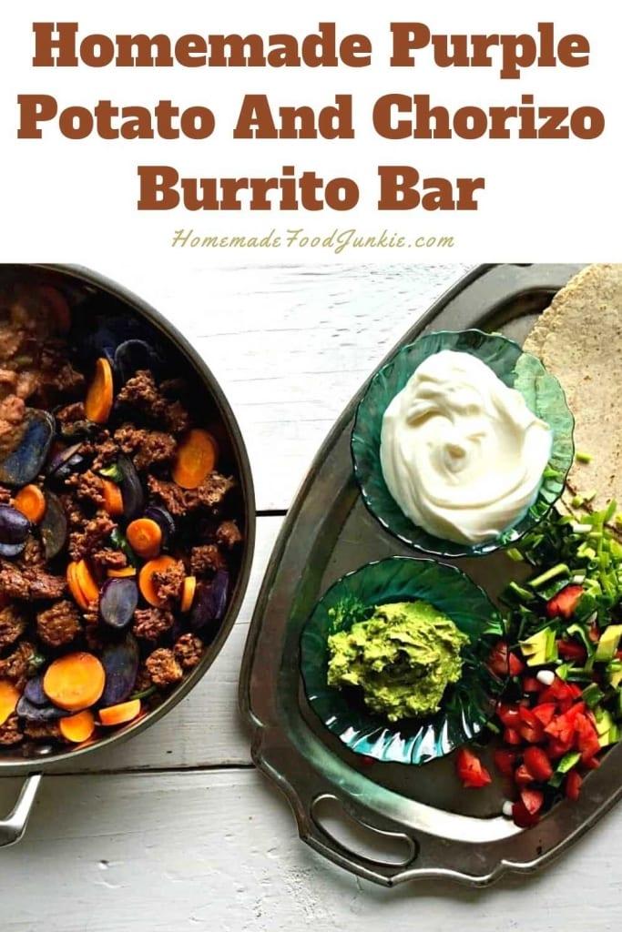 Homemade Purple Potato And Chorizo Burrito Bar-Pin Image