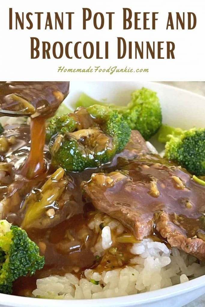 Instant pot beef and broccoli dinner-pin image