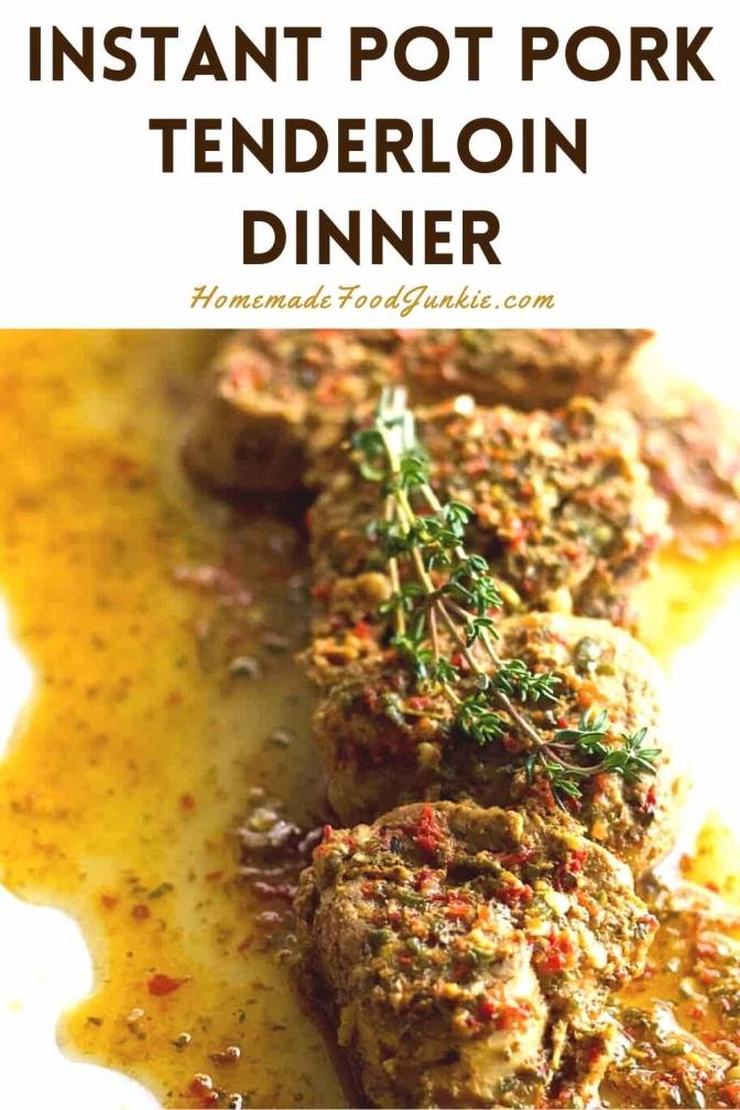 Instant Pot Pork Tenderloin Dinner-Pin Image