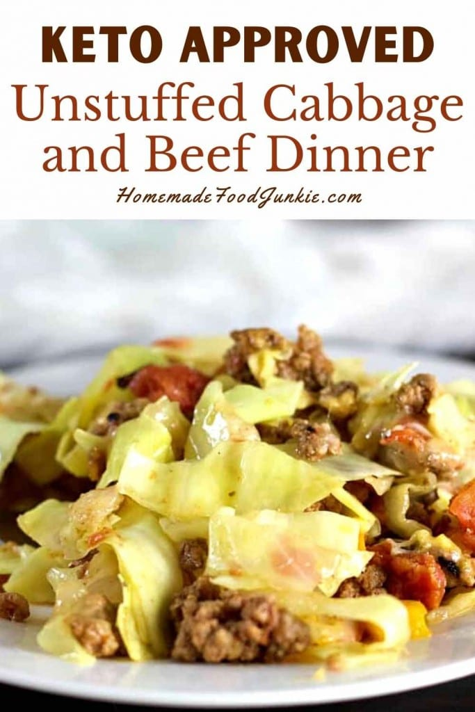 Keto Approved Unstuffed Cabbage And Beef Dinner-Pin Image