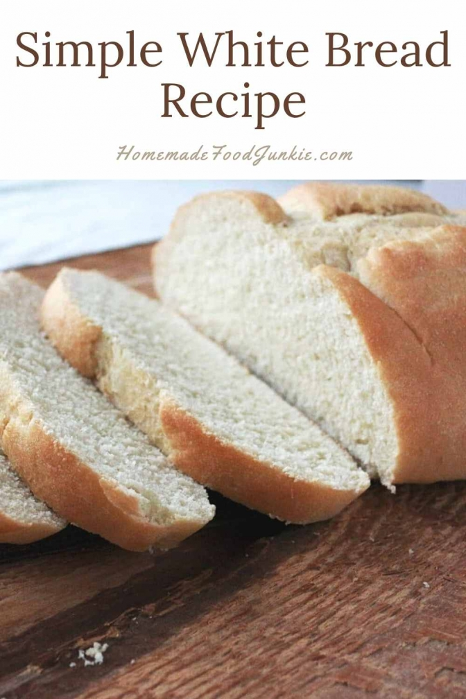 Simple White Bread Recipe-Pin Image