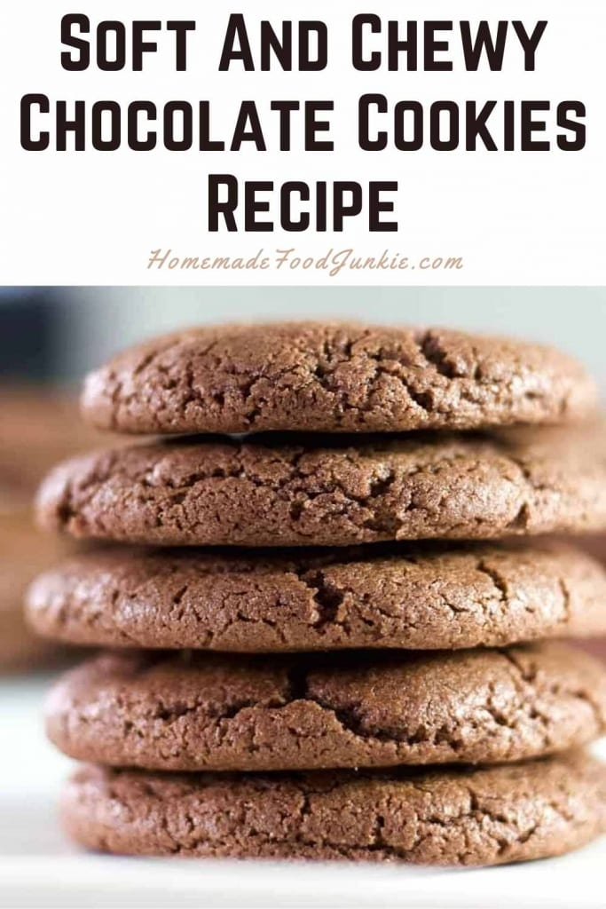 Soft And Chewy Chocolate Cookies Recipe-Pin Image