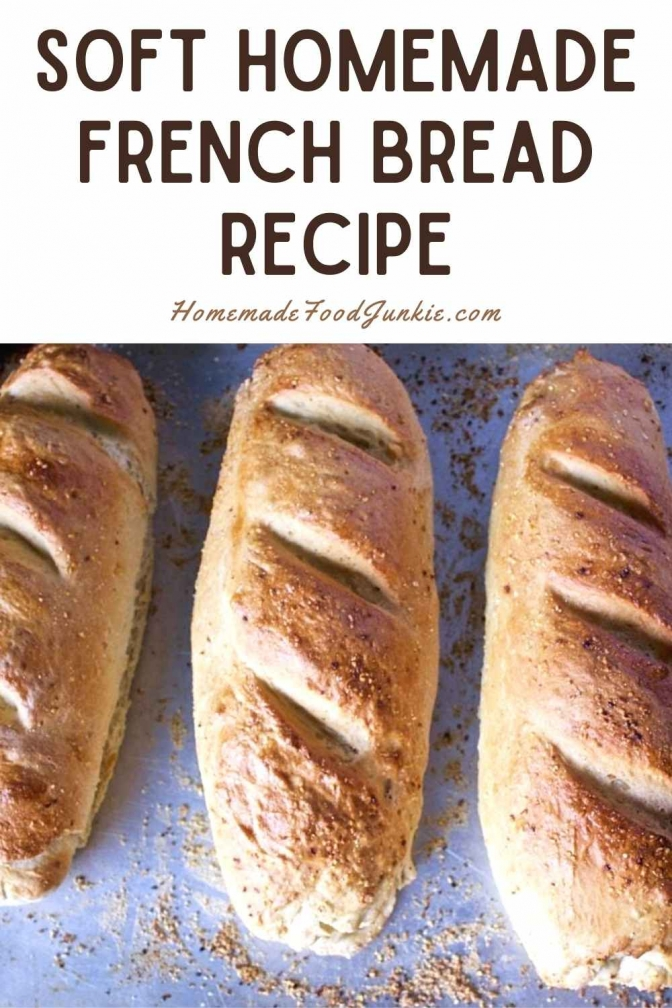 Soft Homemade French Bread Recipe-Pin Image