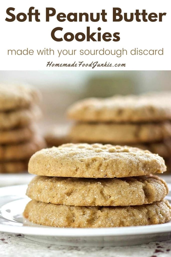 Soft Peanut Butter Cookies-Pin Image