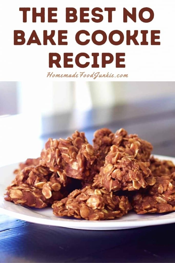 The Best No Bake Cookie Recipe-Pin Image