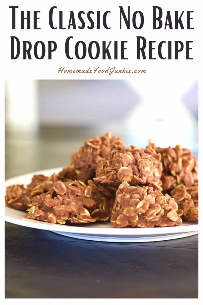 The Classic No Bake Drop Cookie Recipe-Pin Image