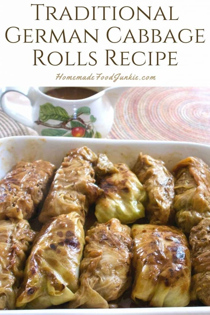 Traditional German Cabbage Rolls Recipe-Pin Image