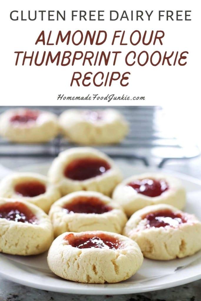 Almond Flour Thumbprint Cookie Recipe-Pin Image