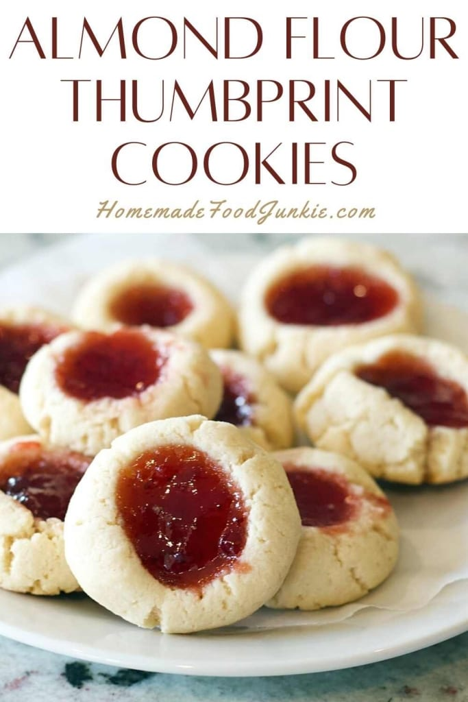 Almond Flour Thumbprint Cookies-Pin Image