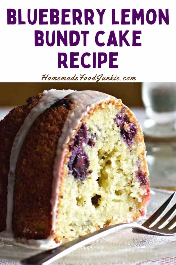 Blueberry Lemon Bundt Cake Recipe-Pin Image