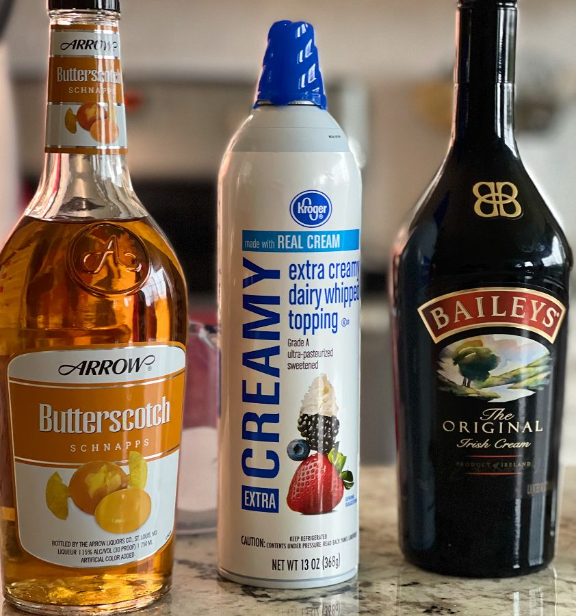 Ingredients For Butterscotch Shot