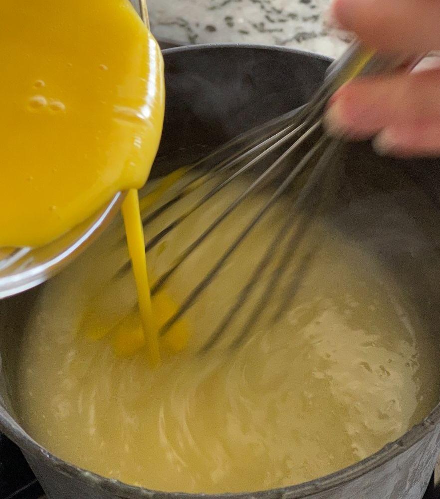 making lemon pie filling