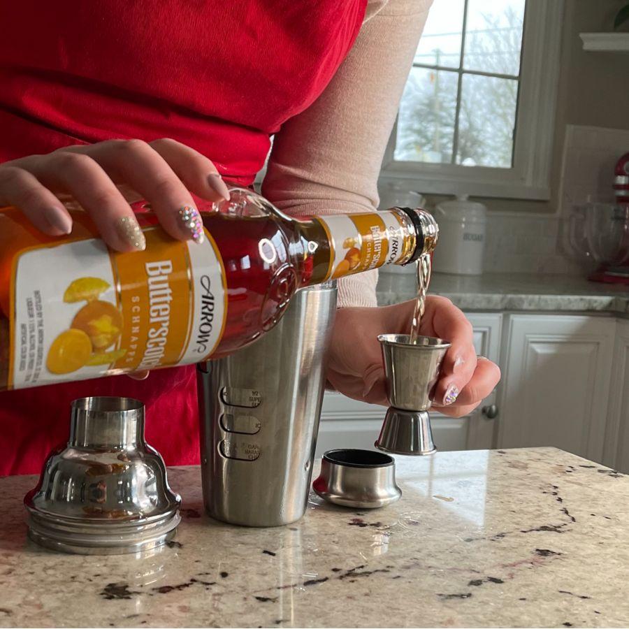 Pouring Butterscotch Schnapps