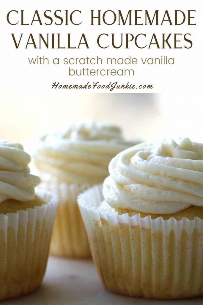 Classic Homemade Vanilla Cupcakes-Pin Image